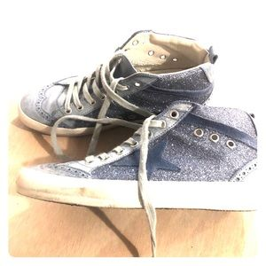 Golden Goose Mid-Star Sparkly Blue size 38
